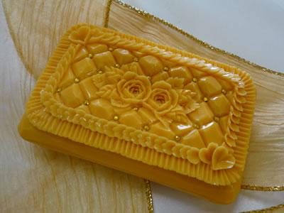 ロコアロマソープ|サンセットマンゴー|彫りやすい石鹸|カービング石鹸