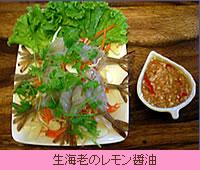 生海老のレモン醤油